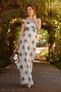 Maxi Umstandskleid mit Blumenprint