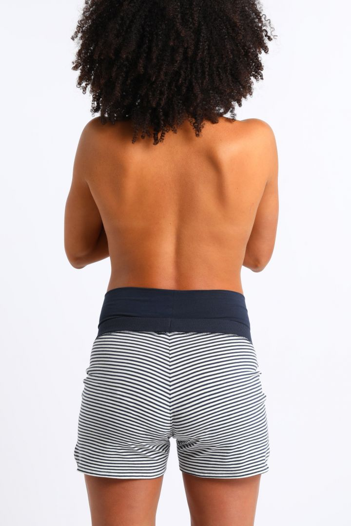 Striped Maternity Shorts in Organic Cotton