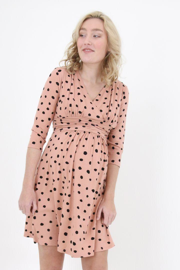 Umstands- und Stillkleid mit Polka Dots