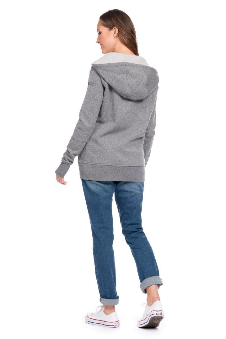 Umstands-Hoodie und Tragejacke grau