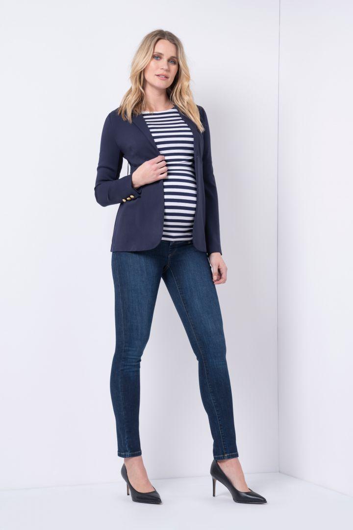 Organic Skinny Overbump Maternity jeans, dark indigo