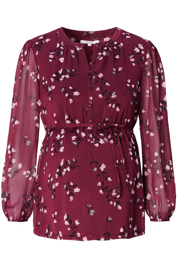 Eco Maternity and Nursing Blouse with Floral Print