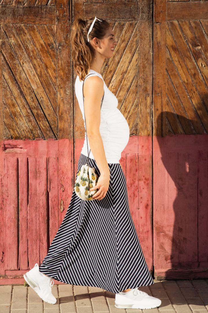 Maternity Jersey Skirt Long