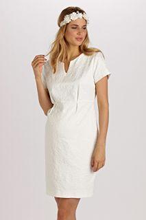 A-Line Kleid aus Jacquard kurzarm
