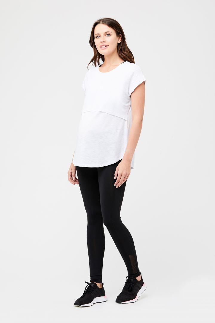 Umstands- und Stillshirt Relax Fit weiß