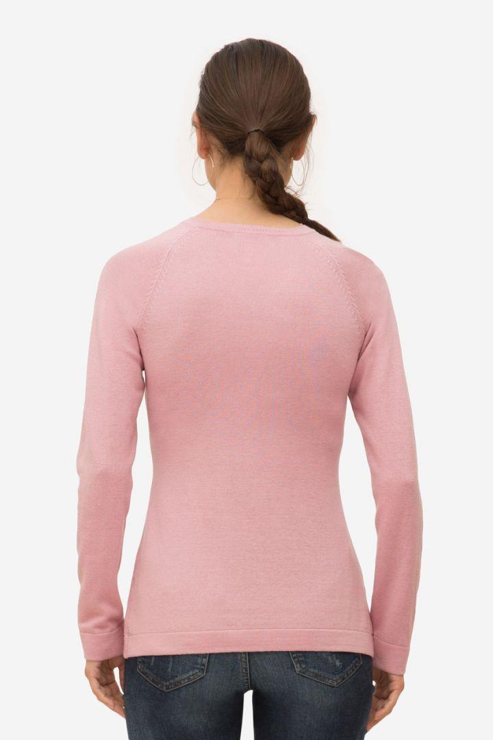Umstands- und Stillpullover mit V-Ausschnitt rosa