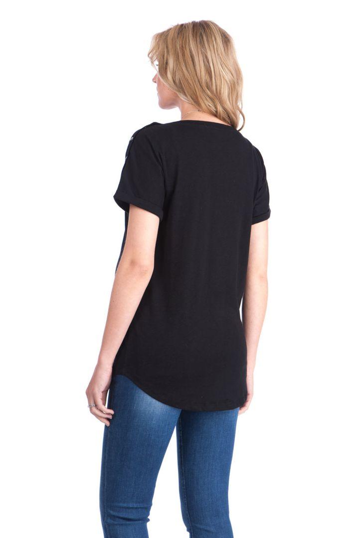 Umstands- und Stillshirt Boyfriend Style schwarz