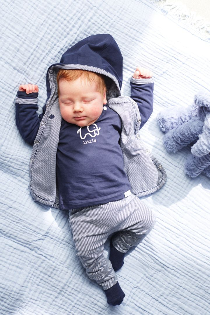 3pcs Baby-Set with Shirt, Trousers and Reversible Jacket