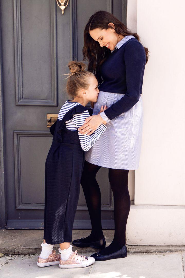 2 in 1 Umstands- und Stillkleid mit Pullover