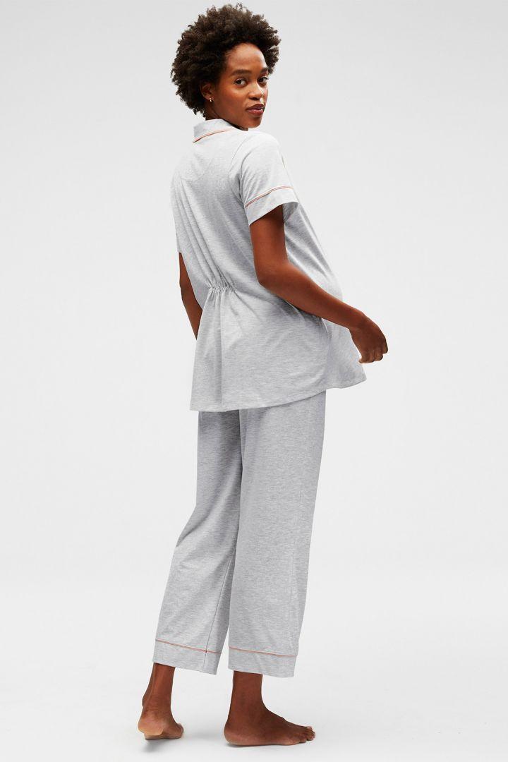 Lounge Capri Maternity Pyjama grey marle