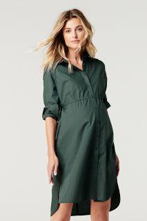 Umstands- und Still-Hemdblusenkleid aus Baumwolle