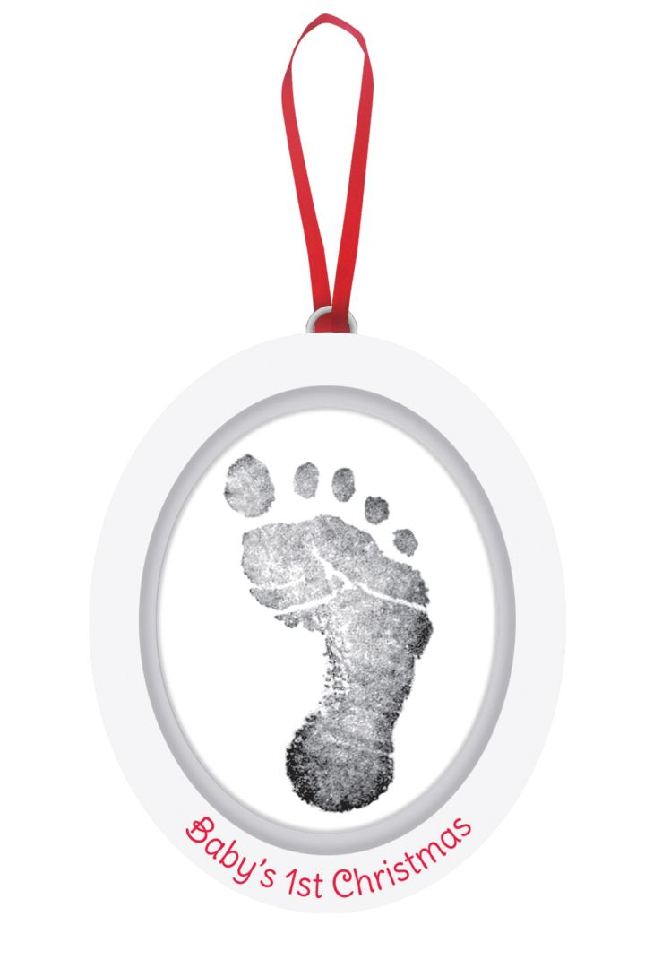 Ornament with Print Set Baby's 1st Christmas