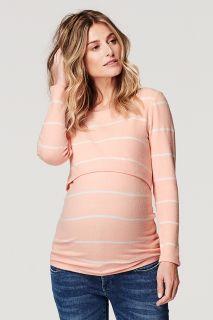 Fleece Umstands- und Still-Pullover mit Streifen