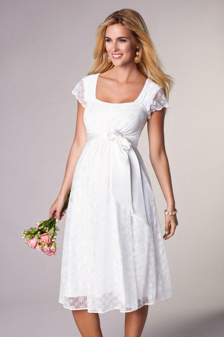 Braut Umstandskleid Florence mit Schärpe