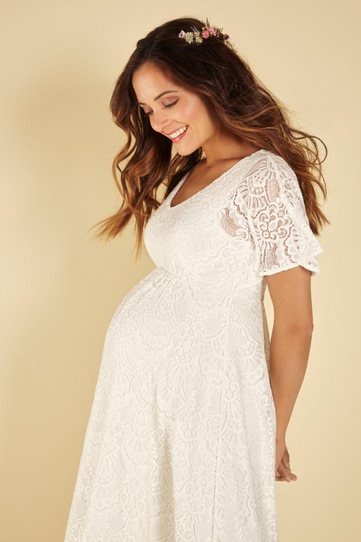 Bohemian-Style Maternity Wedding Dress