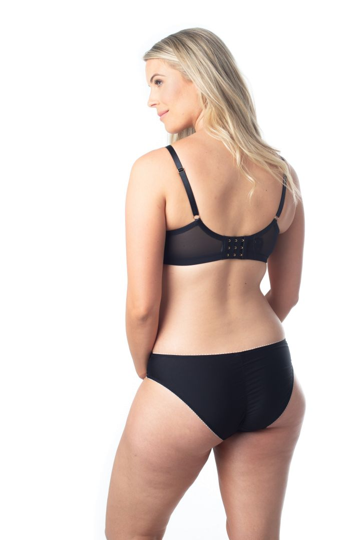 Maternity Briefs with Mesh Inserts black