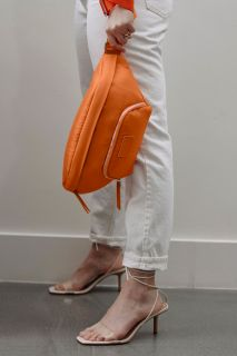 Gürtel Wickeltasche Eco aus recyceltem Nylon orange