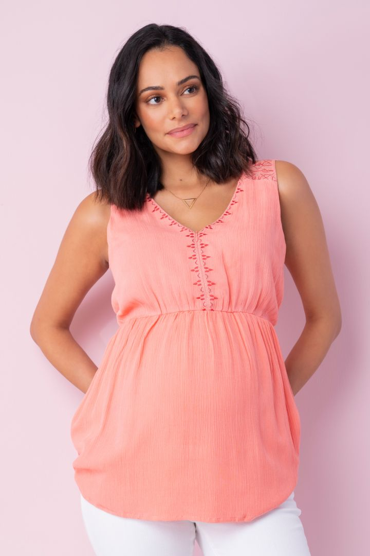 Maternity Top with Embroidery