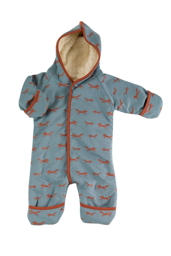 Lined bodysuit made of organic cotton with fox print