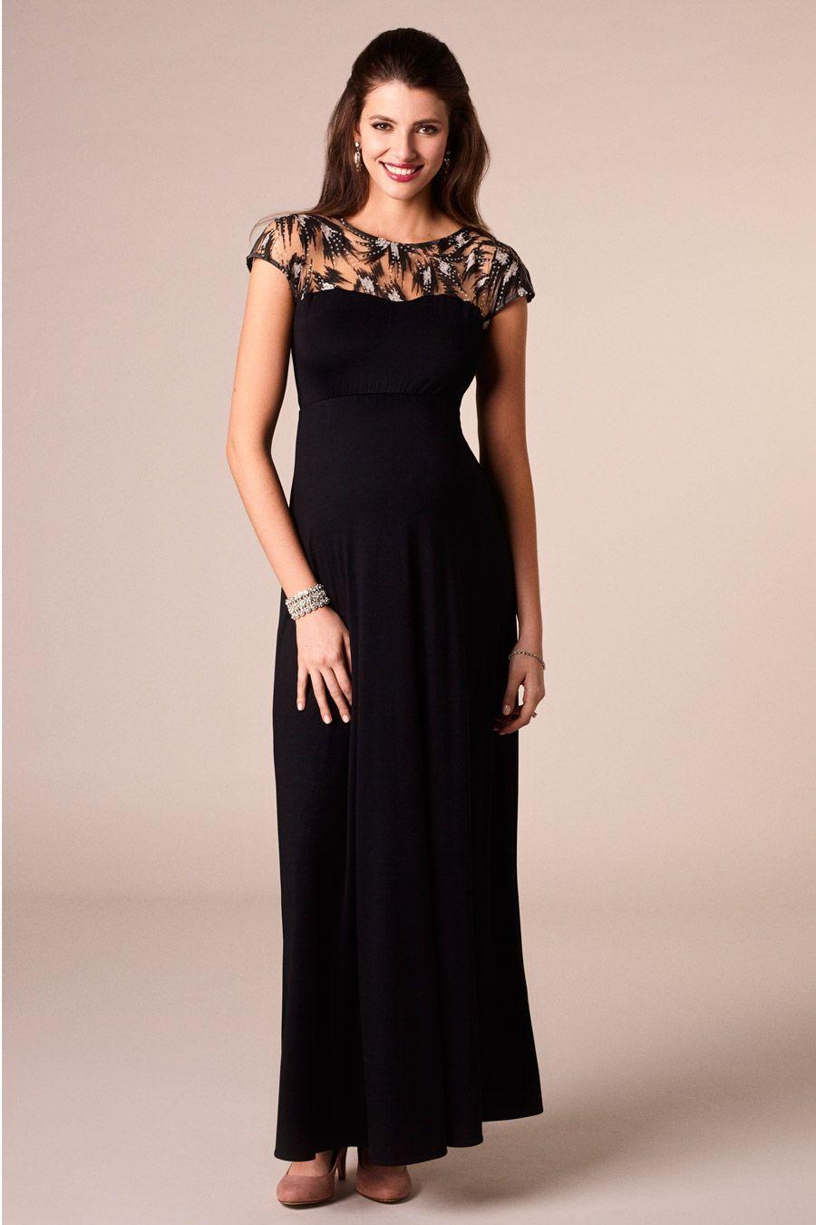 Umstands-Abendrobe Vintage Noir | Kleider lang ...