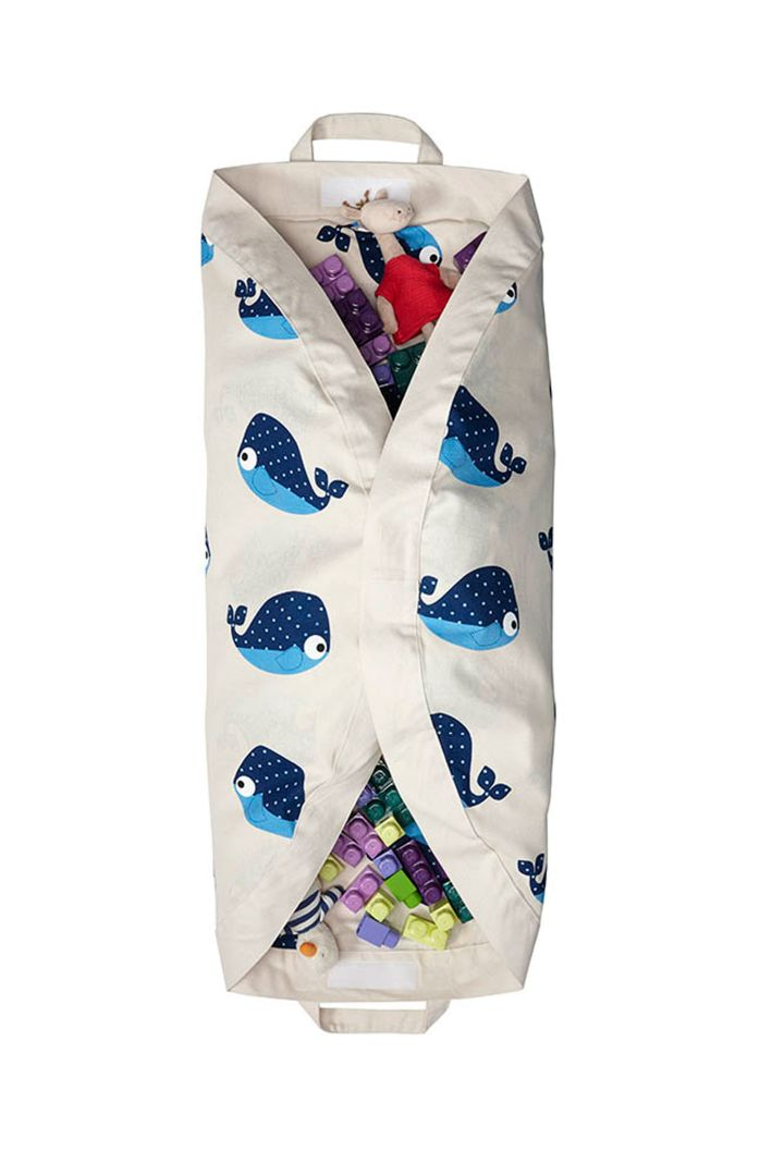 2 in 1 play mat and bag whale
