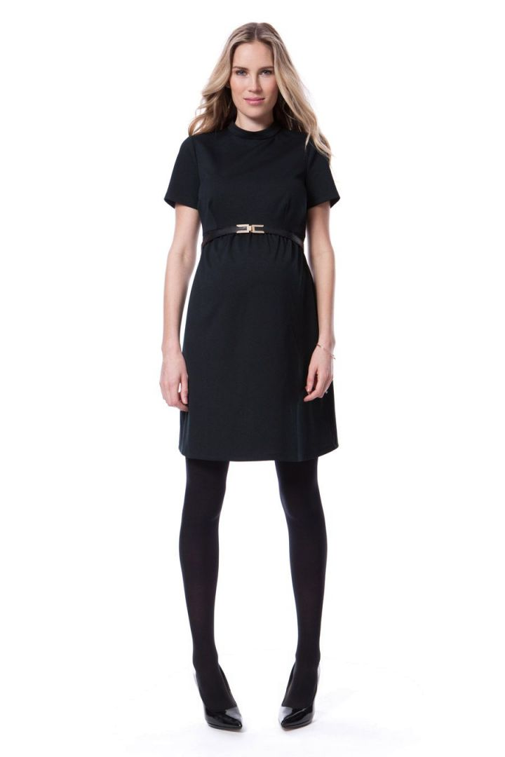 Maternity Dress with High Collar