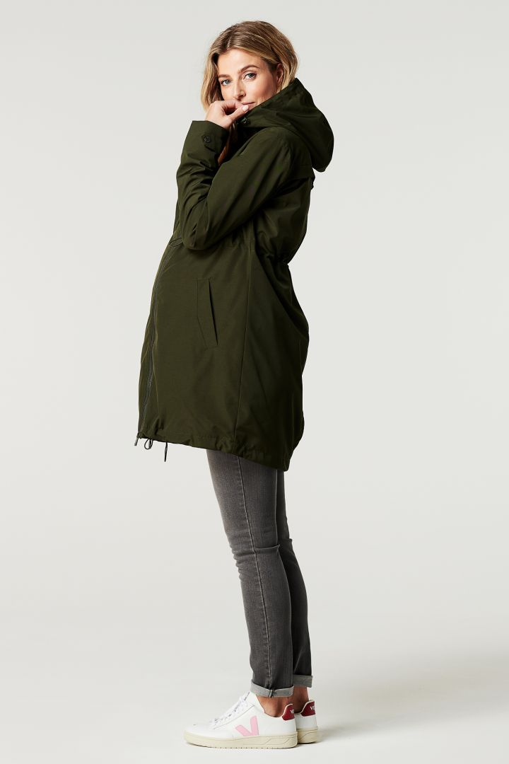 3-in-1 Maternity Jacket with Baby Carrier and Hood
