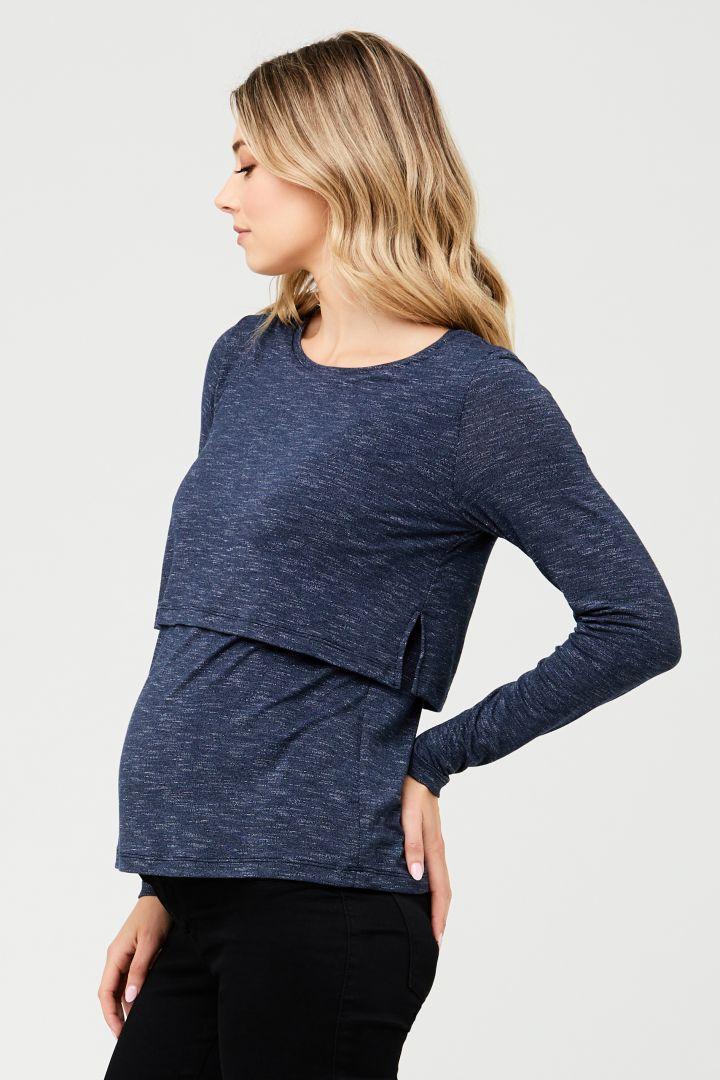 Maternity and Nursing Shirt denim