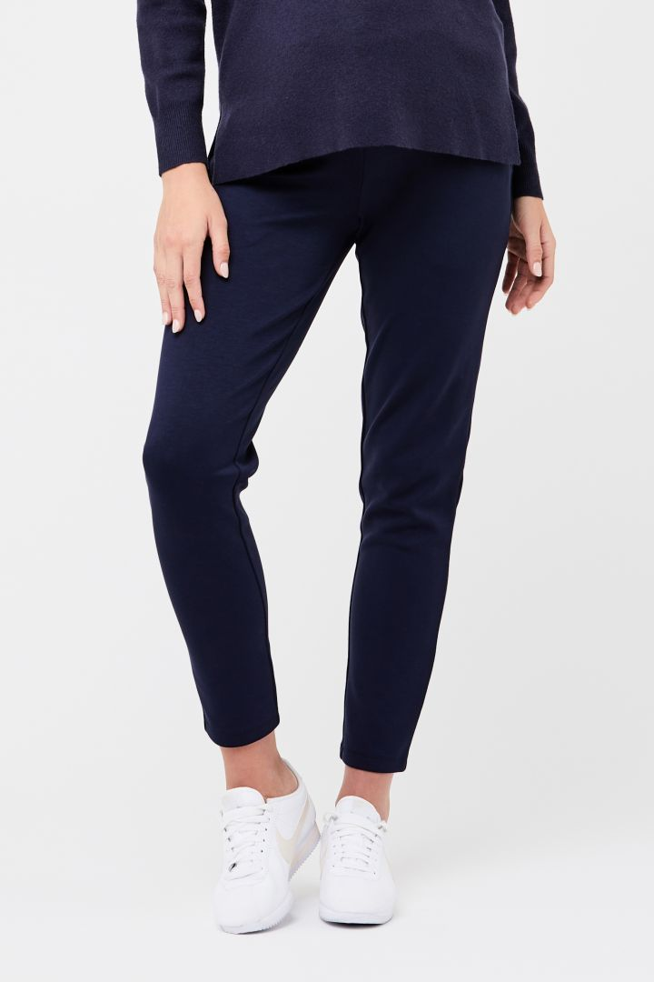 Slim-Fit Maternity Trousers navy