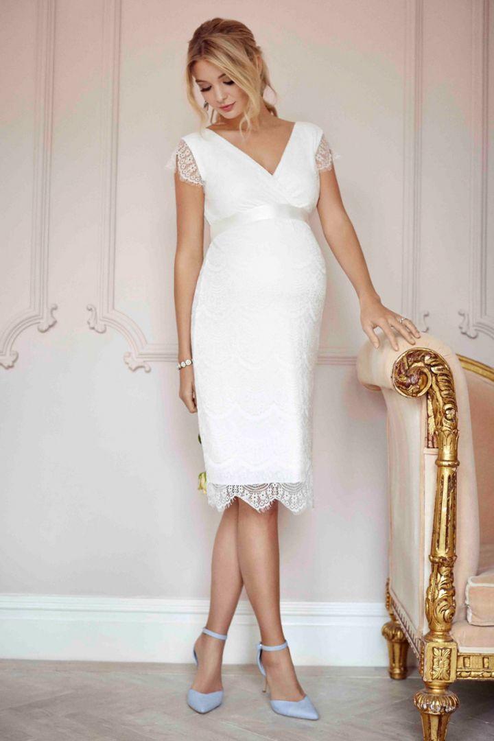Shift maternity bride dress