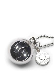 Bola Klangkugel-Silberkette Füßchen