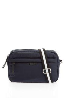 Crossbody Wickeltasche aus Nylon dunkelblau