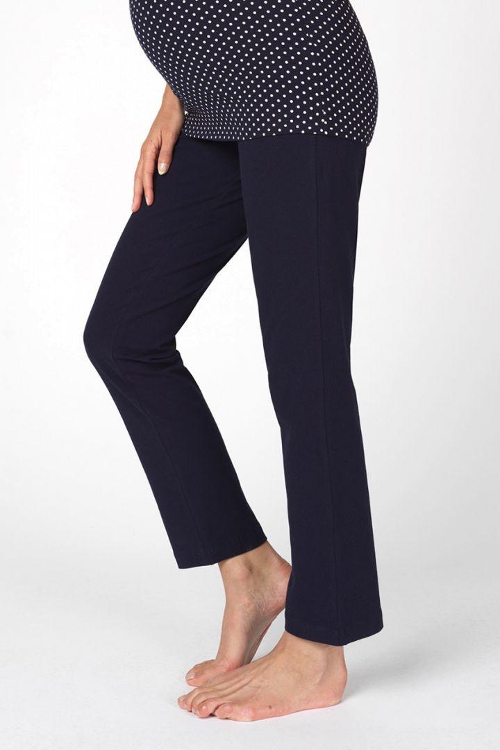 Umstandspyjama- und Lounge Hose aus Bio-Baumwolle