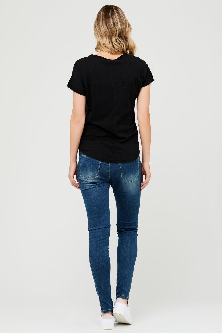 Relaxed Maternity Shirt black