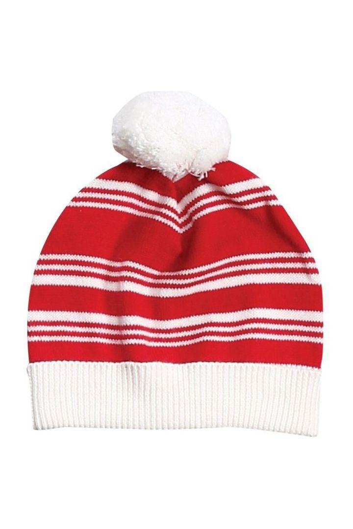 Weihnachts-Pudelmütze