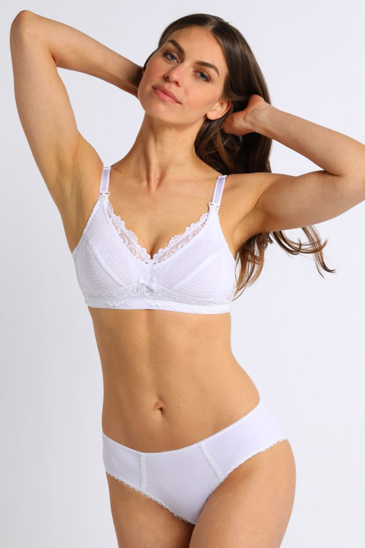Lace Maternity and Nursing Bra white
