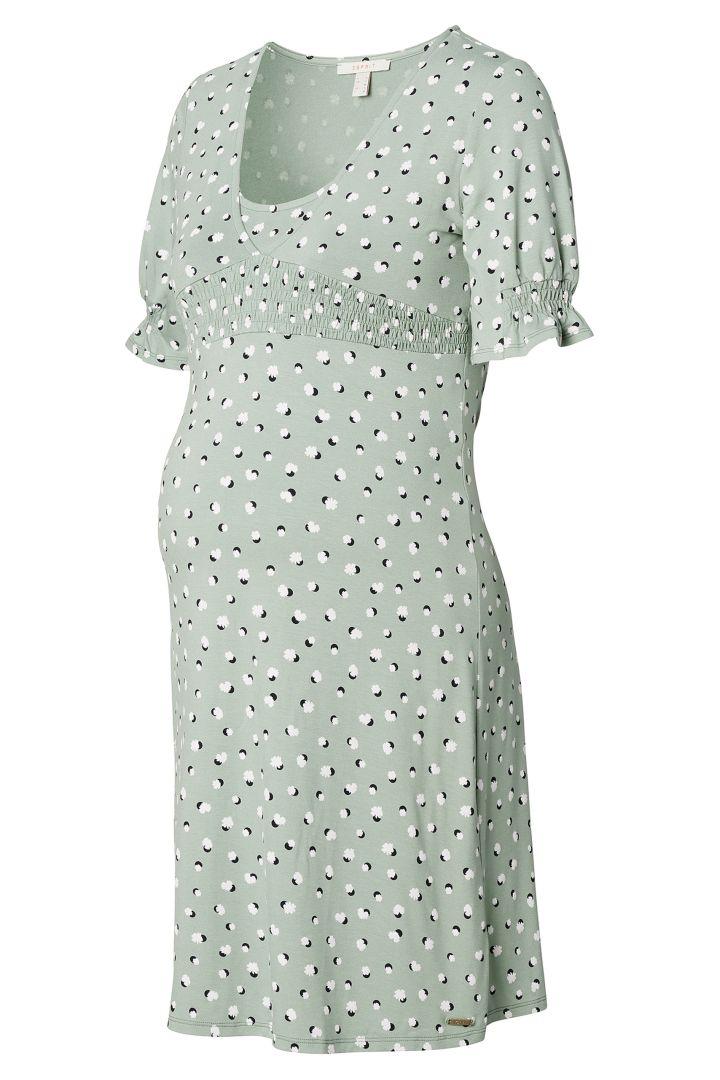 Ecovero Umstands- und Stillkleid mit Print mint