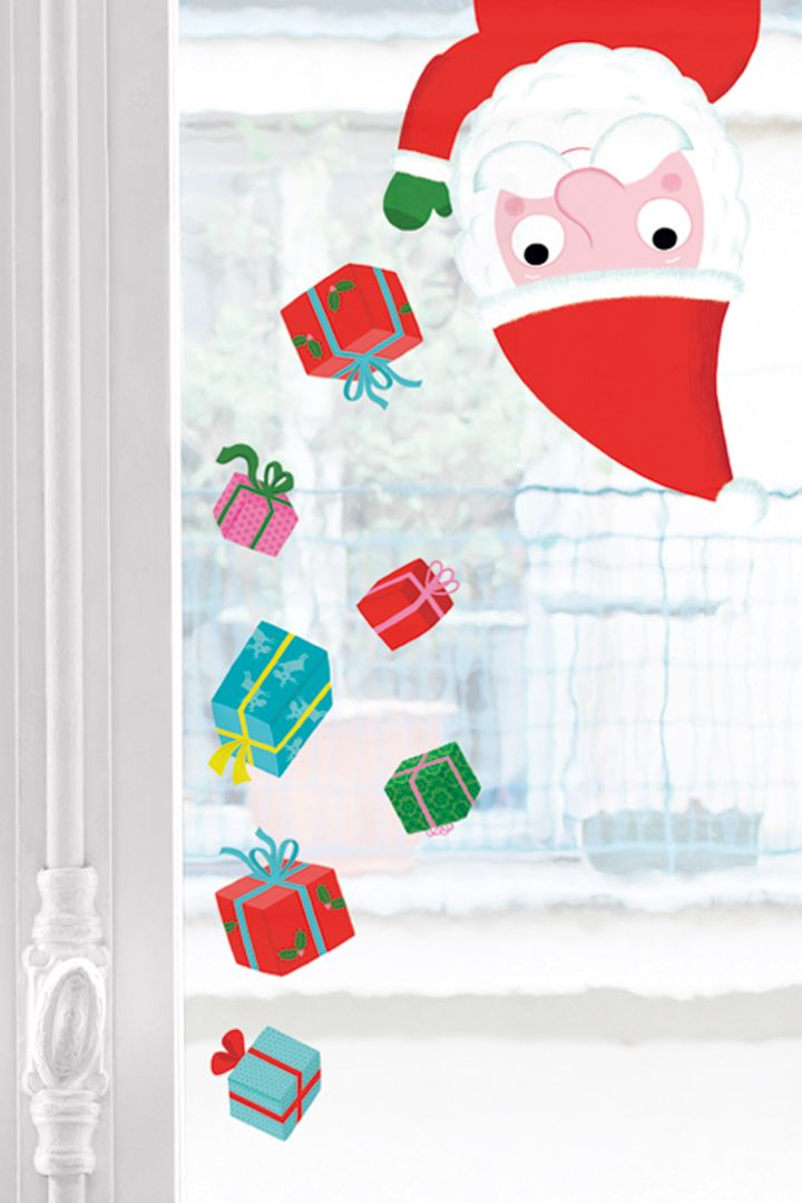 Geschenke Fenstersticker