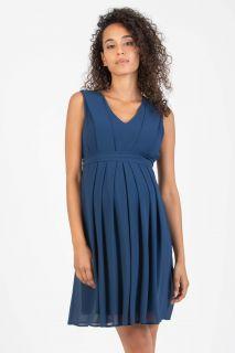 Chiffon Umstands- und Stillkleid blau