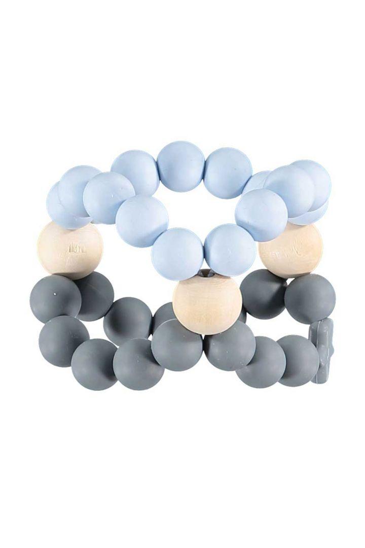 Cube Greifling und Beißring hellblau/grau