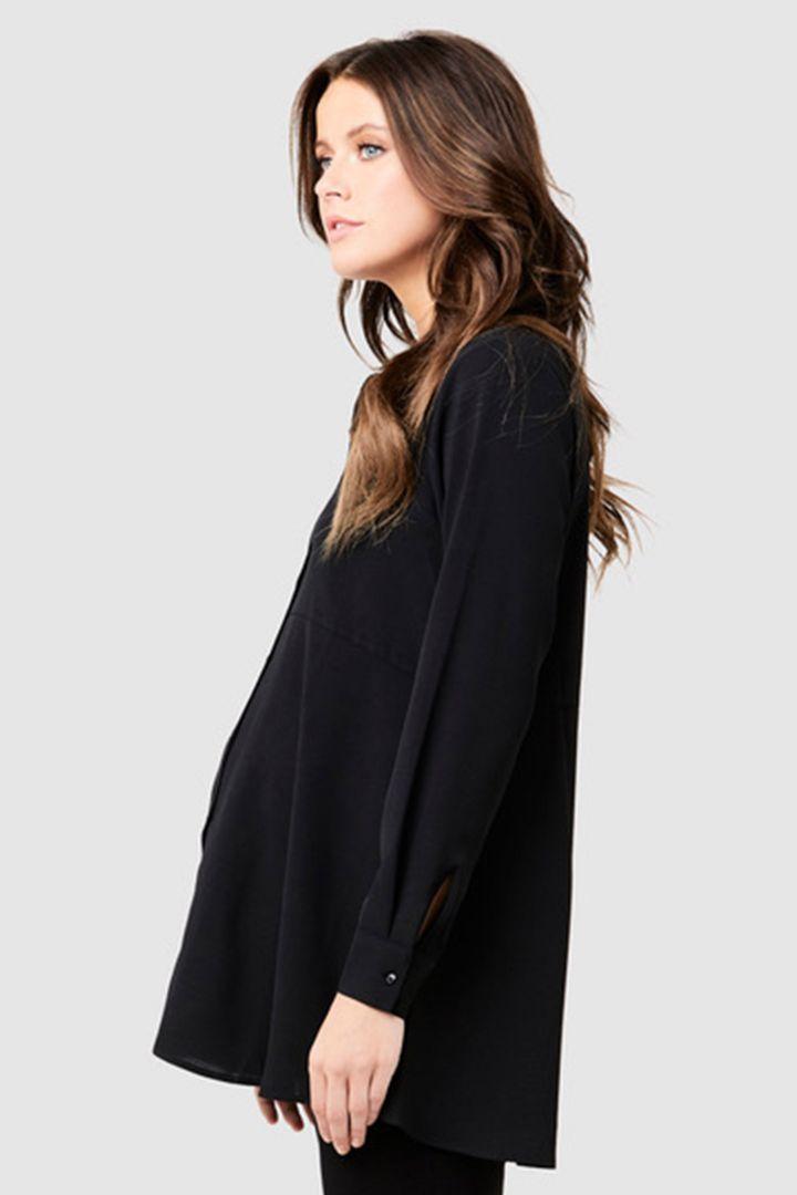 Peplum Maternity and Nursing blouse black