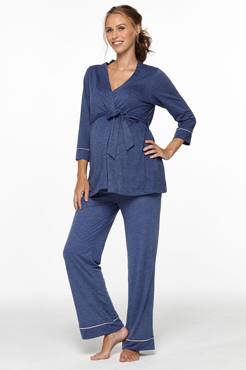 best loved f67c0 668ee Umstands- und Still Pyjama mit Morgenmantel   Umstands- und ...