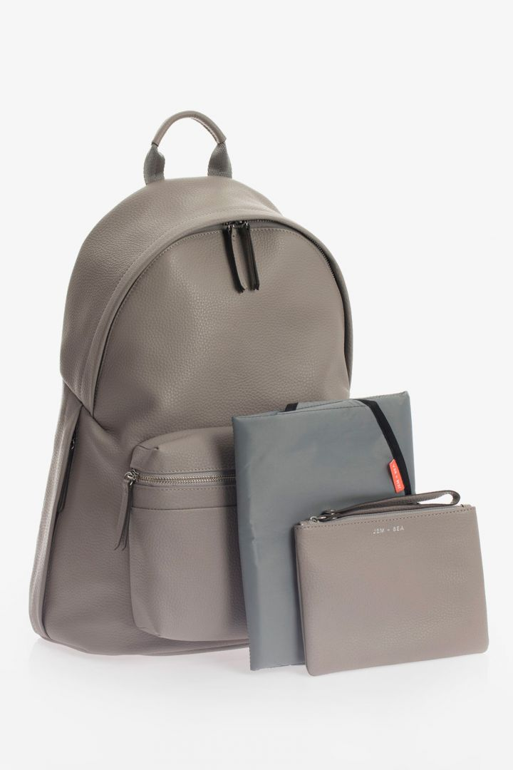 Luxe Changing Rucksack Tumbled Leather grey
